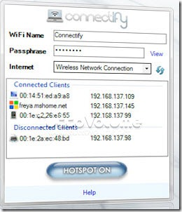 Connectify Virtual WiFi