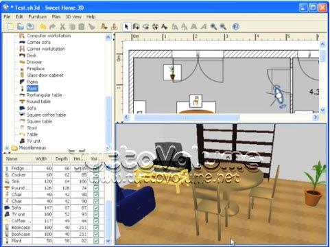 Sweet home 3d arredamento di interni alla portata di for Programma arredamento 3d